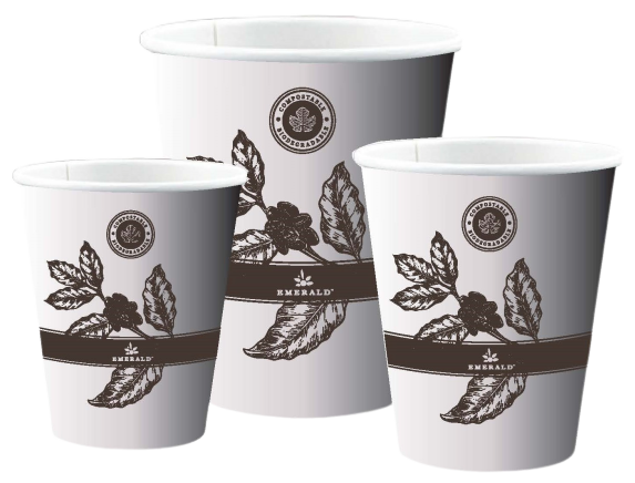 Emerald Compostable Select Design Hot Cups