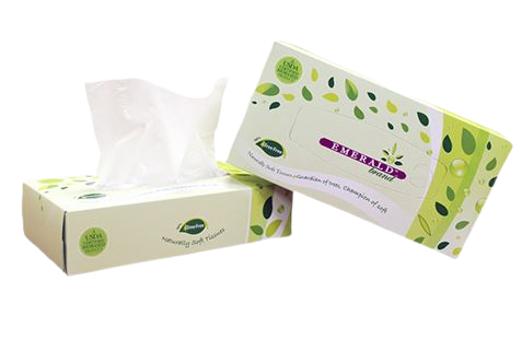 Emerald Tree-Free Flat Box Facial Tissue
