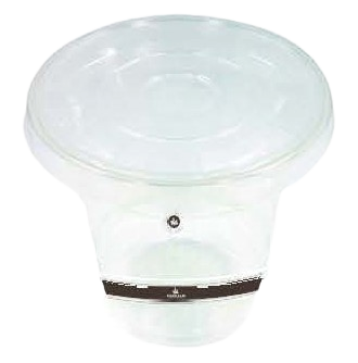 Emerald Compostable C-Slot Cold Cup Lid