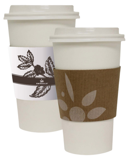 Emerald Compostable Hot Cup Sleeves