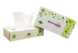 Emerald Tree-Free Flat Box Facial Tissue