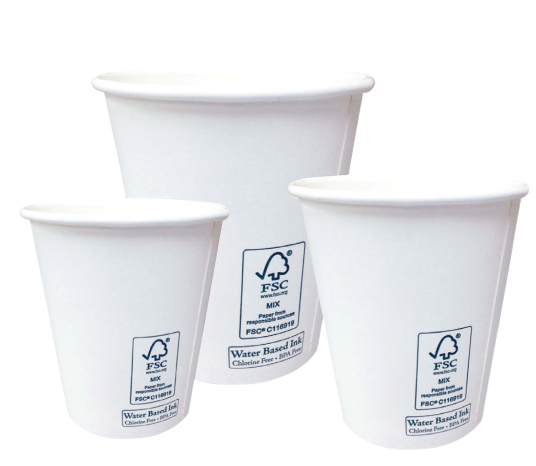 Emerald White FSC Hot Cups